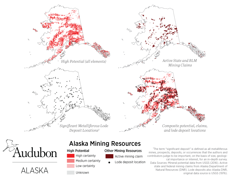 Map of mining resources in Alaska.