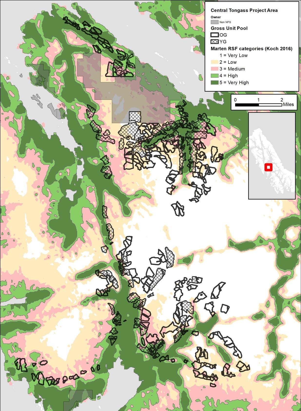 Central Tongass Project Area - Marten