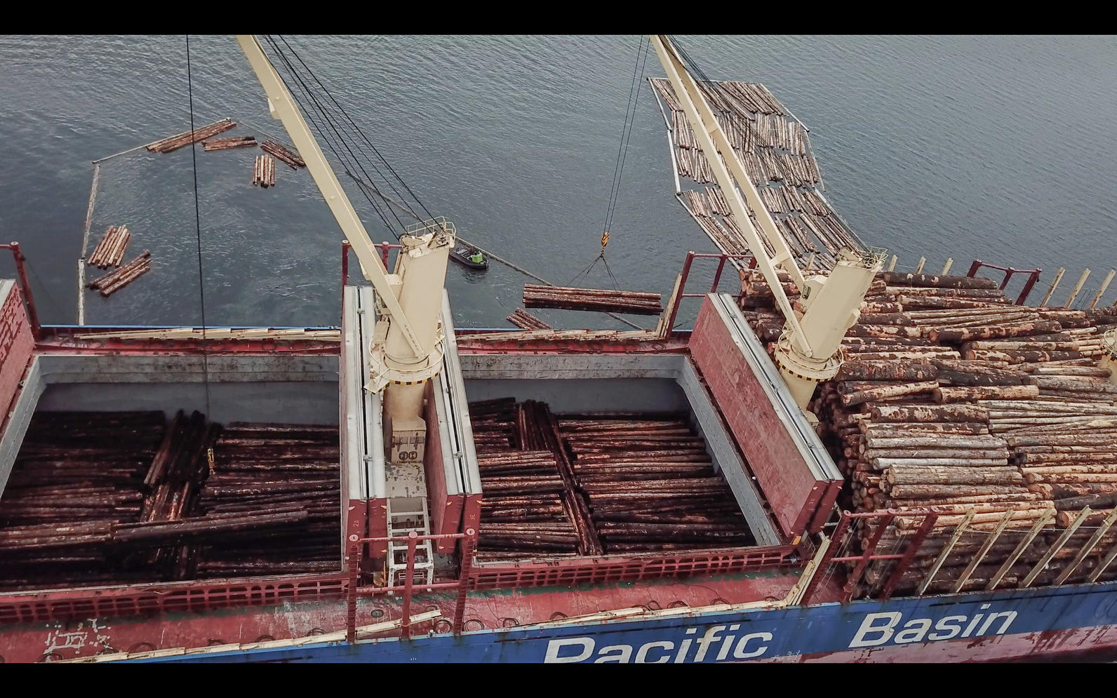 Whole, round log exports in the Tongass