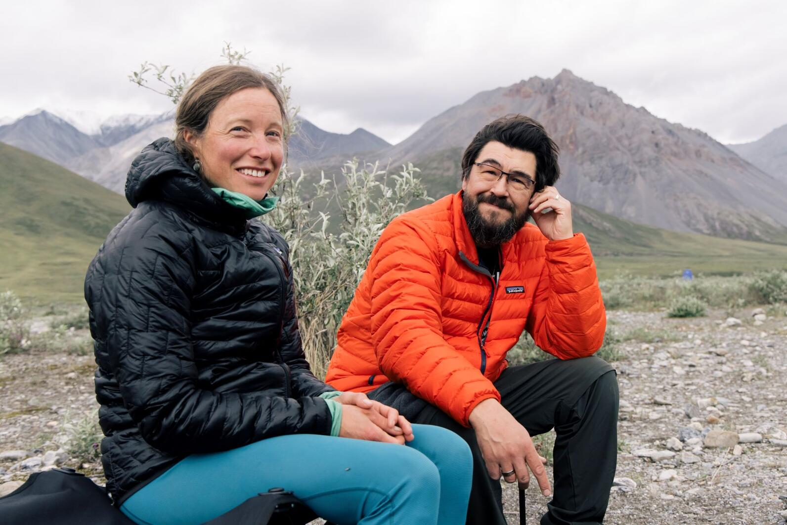 Natalie Dawson and Karlin Itchoak in Arctic Refuge.