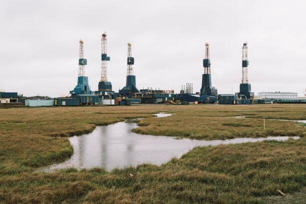 Oil development in Alaska's Western Arctic.